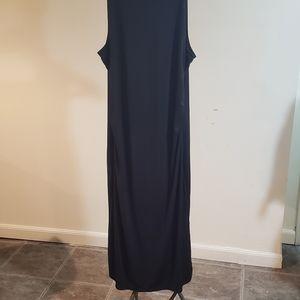 Tahari black pull on stretch dress never worn